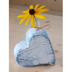 Herz-Vase (blau)