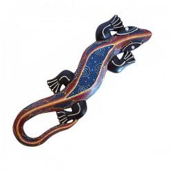 "Gecko (30 cm) ""Aborigine Style"" - Blau"