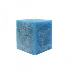 Kerze viereckig (Blau II.)