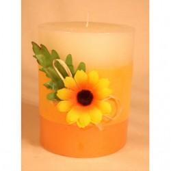 """Duft- und Dekokerze mit Blume """"Sonnenblume"""""""
